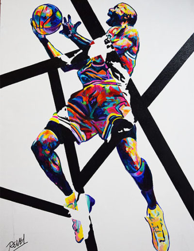 Abstract Jordan Painting